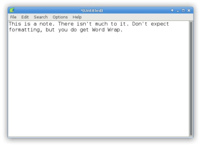 Ligera software de Linux - Leafpad Editor de texto