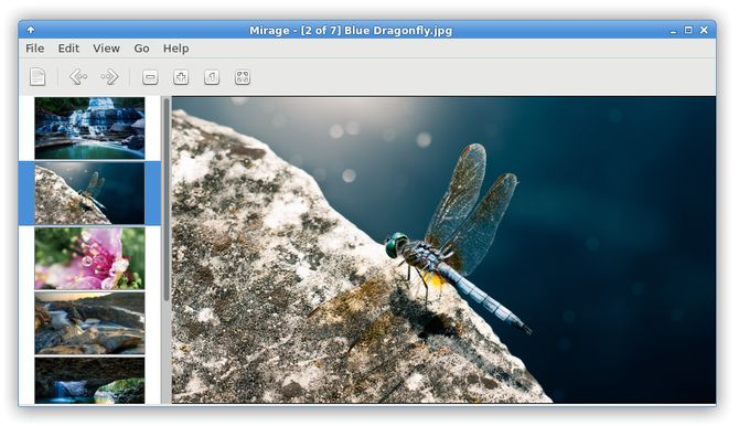 Ligera software de Linux - Visualizador de imágenes Mirage