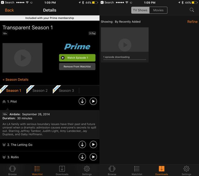 conmutar aplicaciones amigables de vídeo de primera Amazon