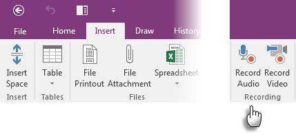 Microsoft OneNote - Notas de audio