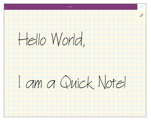 Microsoft OneNote - QuickNote