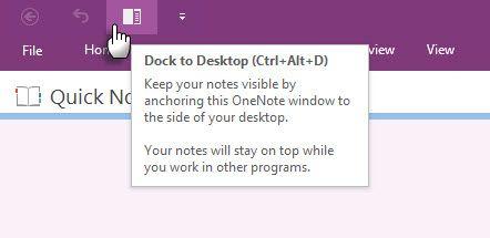 Microsoft OneNote - Dock para el Escritorio