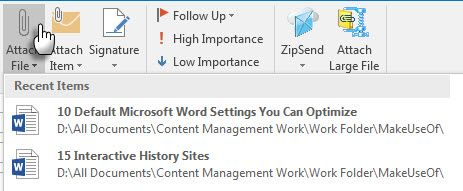 Adjunto Microsoft Office Outlook