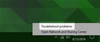 solucionador de problemas de Windows 10 Internet