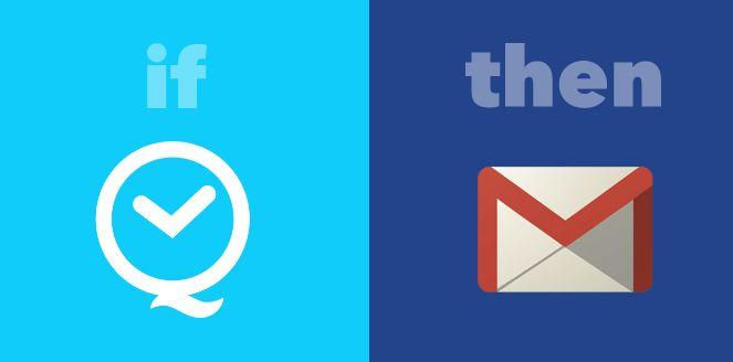 IFTTT Receta Smartphone Uso de Gmail Recordatorio