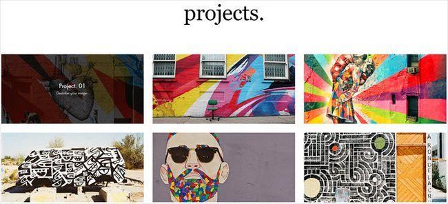 plantilla de Wix artista de graffiti