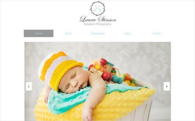 WebSiteBuilder recién nacido plantilla de la fotografía