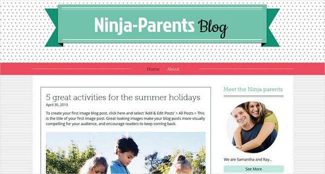 Wix el blog plantilla de crianza