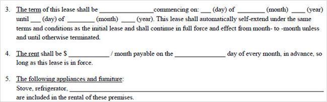 tidyform básica contrato de alquiler