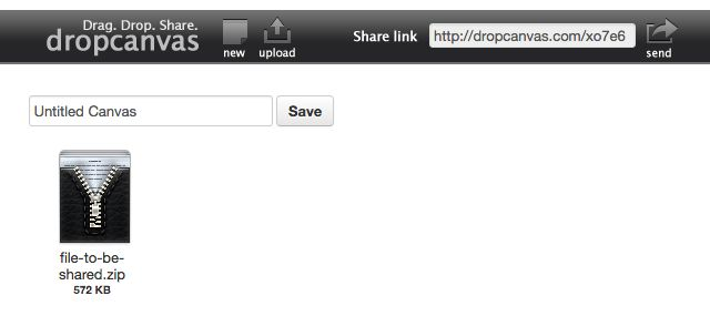 el intercambio de archivos de sitio dropcanvas