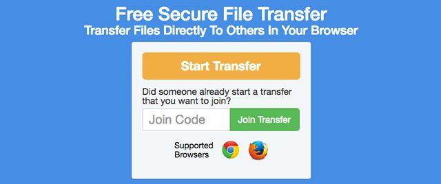 el intercambio de archivos de sitio FileSender