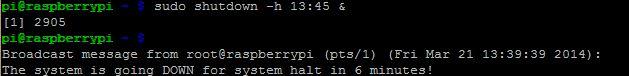 Muo-Raspberry Pi-comandos de apagado