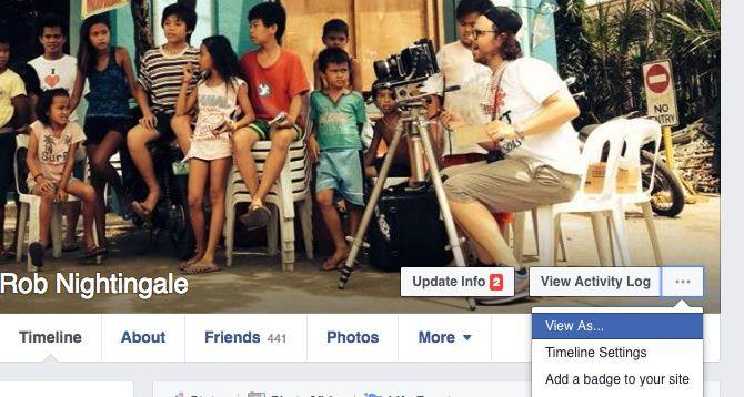 Trucos de Facebook y características - Ver como Otros