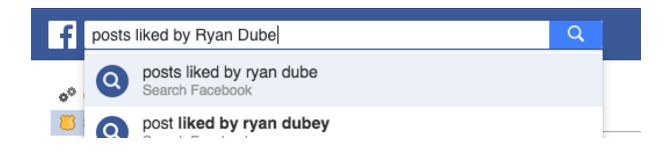 Facebook trucos y características - Buscar