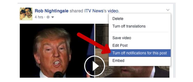 Trucos de Facebook y características - deshabilitar las notificaciones