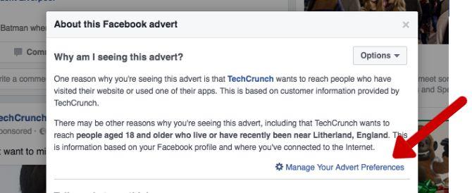 Trucos de Facebook y características - preferencias de anuncios