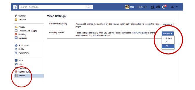 Trucos de Facebook y características - vídeo de reproducción automática