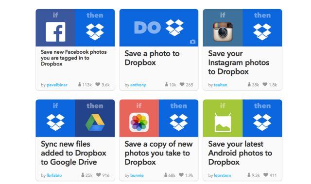Ifttt Dropbox Recetas