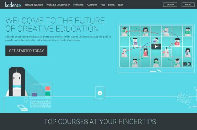 Aprendizaje en línea sitio web - Kadenze