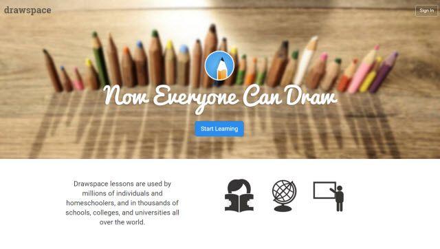 El aprendizaje en línea sitio web - Drawspace