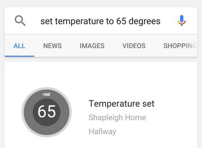 Nido termostato inteligente con Google Now Ejemplo