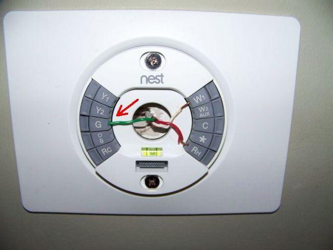 Diagrama de instalación termostato inteligente Nest