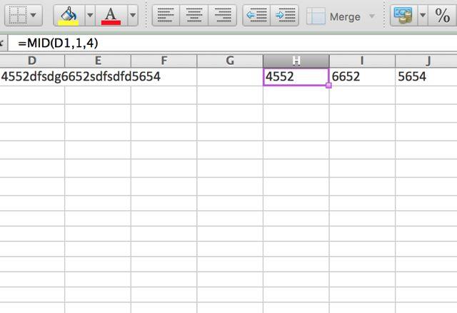Excel-mediados de la función
