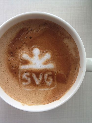 SVG espelta en espuma de café