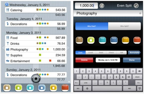 aplicación para dividir las facturas