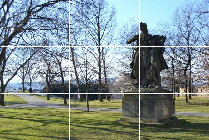 Habilidades fotografía regla de composición de los tercios