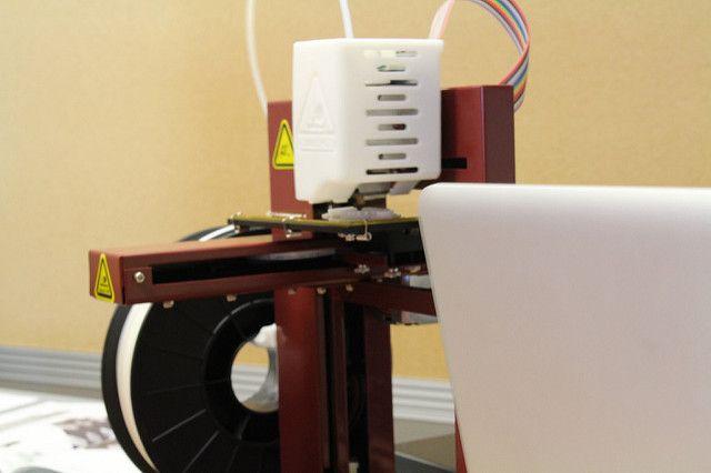 La impresión en 3D de cerca