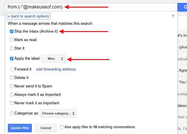 gmail-excluir filtro