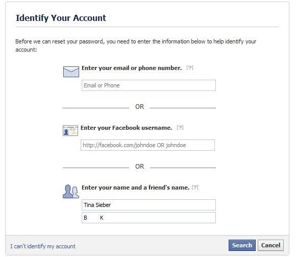 perfiles de Facebook hackeadas