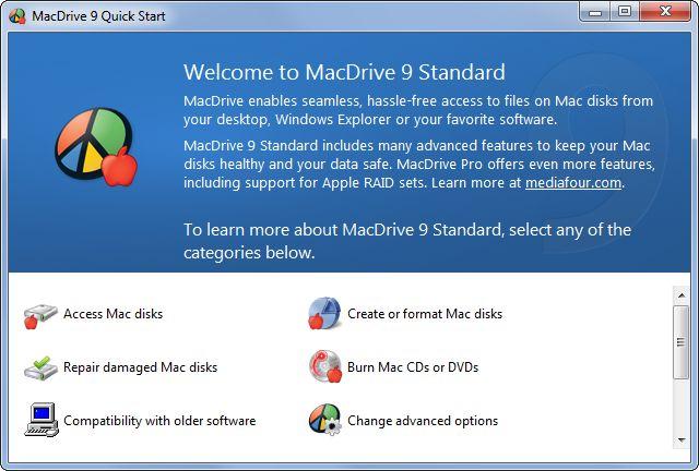 mac-formato-conduce-en-ventanas de lectura y gestionar;