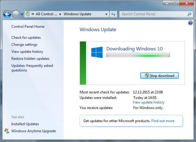 Actualizar a Windows 10 en Windows 7 Descargar