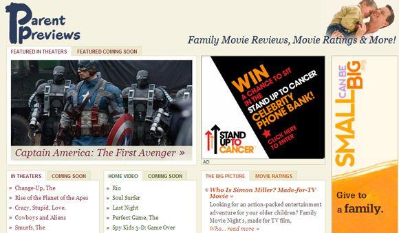 películas favorables a la familia