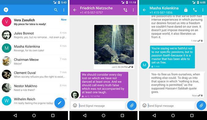 android-mensajería-aplicaciones-señal