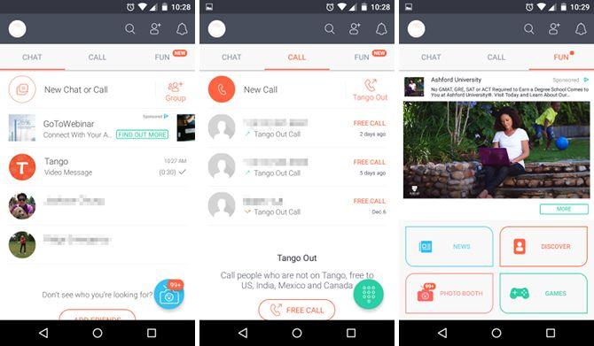 android-mensajería-aplicaciones-tango
