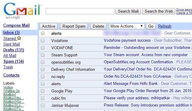 mejores sitios-a-marcador-lento-Internet-conexión-gmail-html-vista