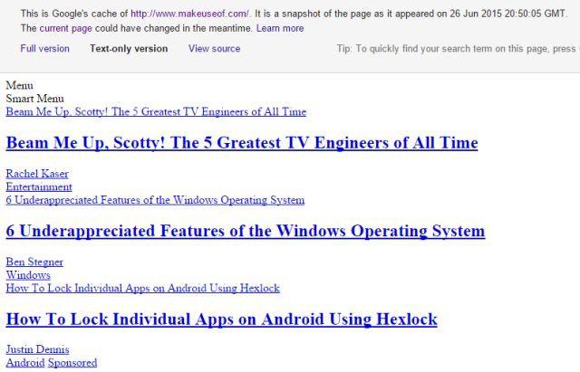 mejores sitios-a-marcador-lento-Internet-conexión-google-Texto-cache