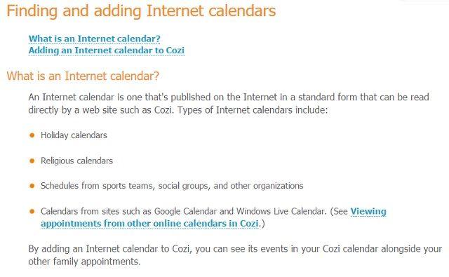 Cozi Calendario de Integración