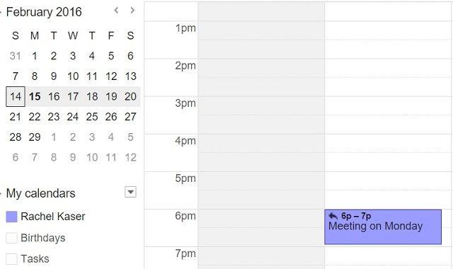 Assistant.to Calendario de reuniones