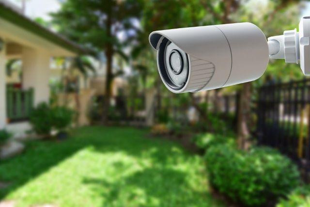 Muo-smartphone-cámaras de seguridad-posicionamiento-jardín