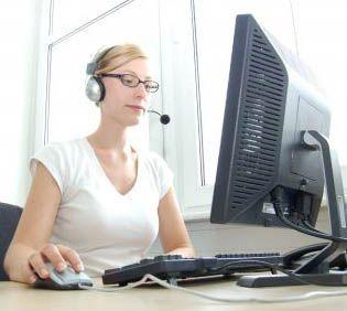 virtual de trabajo del centro de llamadas