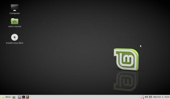 Linux Mint escritorio