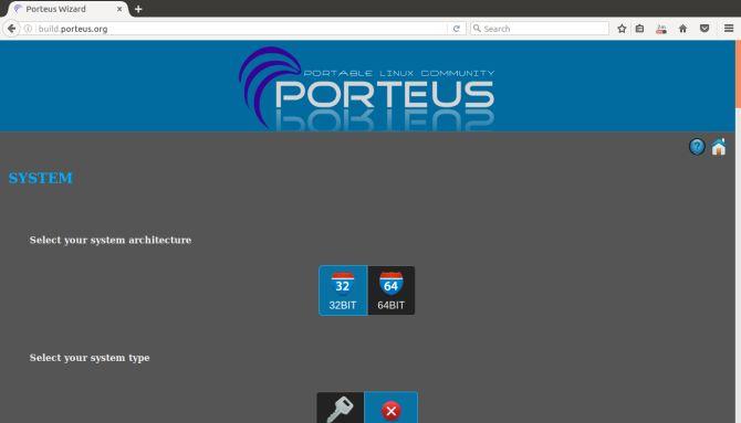 Porteus Linux Construir Atom