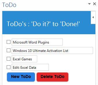 TODO aplicación de Microsoft Office