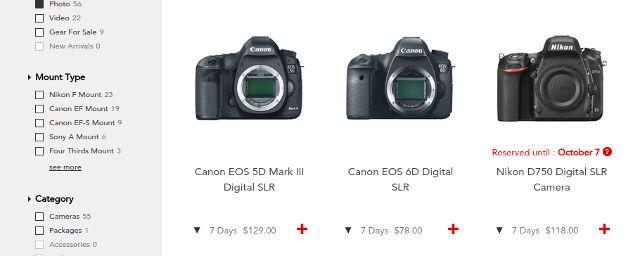 ahorrar dinero-DSLR-cámara-Arrendamiento