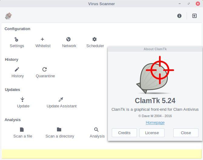 clamtk seguridad de Linux