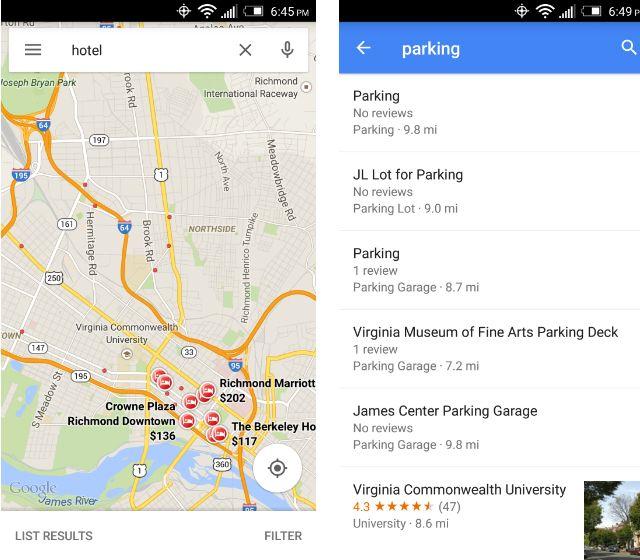 SmartphoneDumb de estacionamiento